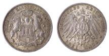 World Coins -  GERMANY. 3 MARK 1909 XF