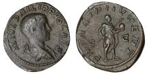 Ancient Coins - Philip II as Caesar 244-245 AD. Æ Sestertius XF \ roman coin