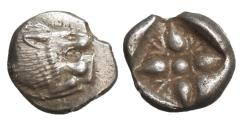 Ancient Coins - Ionia Miletos 510-494 BC AR Diobol Silver UNC \ Greek Coins