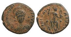 Ancient Coins - Honorius AD 393-423 Constantinople Follis VF CONCORDIA