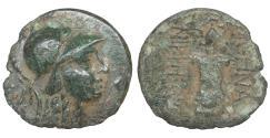 Ancient Coins - MYSIA Pergamon Circa 133-27 BC Bronze Athena \ Trophy
