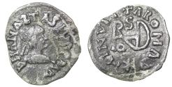 World Coins - The Ostrogots Gepids Theoderic the Great Sirmium AD 491-518 Half Siliqua aXF \ Barbarian Coin