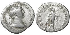 Ancient Coins - TRAJAN (98-117). Denarius. Rome. VF+ \ Roman Coin