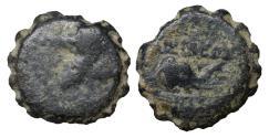 Ancient Coins - Seleukid Kingdom Demetrios I Soter 162-150 BC Serrate AE VF
