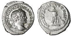 Ancient Coins - Caracalla. Denarius. Struck 216 AD UNC Roman coin