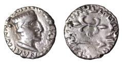 Ancient Coins - INDO-SCYTHIANS Kshatrapas Kshaharata Nahapana 119-124 AD AR Drachm  SCARCE XF