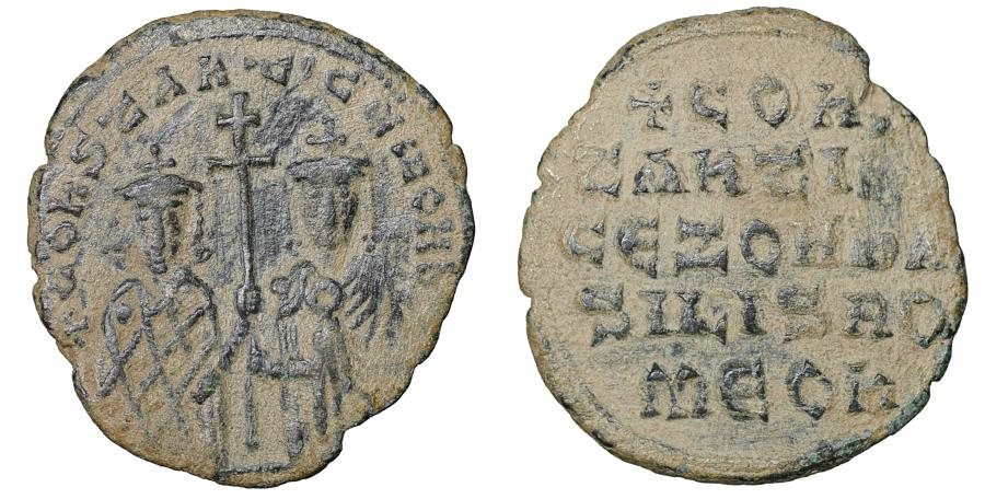 Vf 913.-959. Byzantine Empire Coin Follis Constantine Vii And Romanus I.