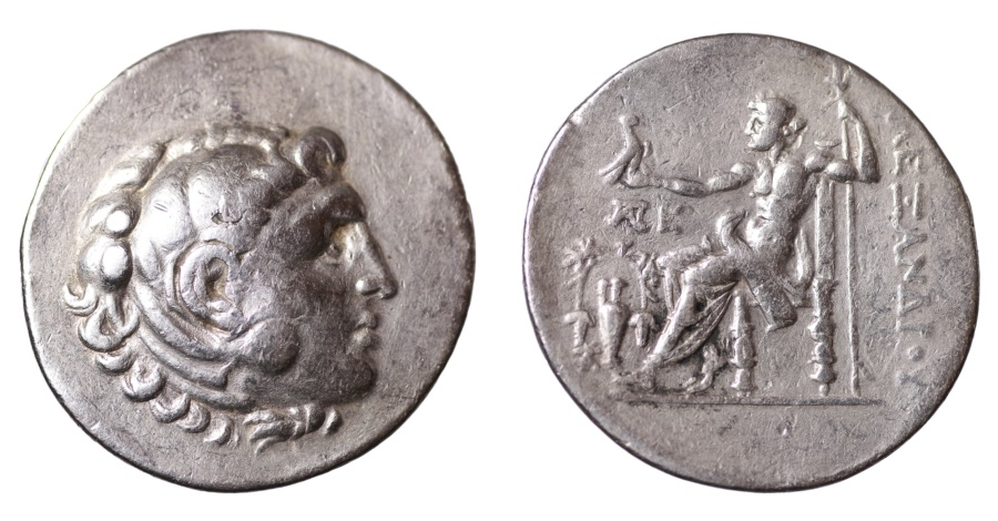 Ancient Coins - ALEXANDER III THE GREAT. 336-323 B.C. TETRADRACHM. AEOLIS TEMNOS. 188-187 B.C.