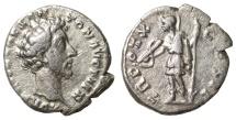 Ancient Coins - Marcus Aurelius, as Caesar, Denarius. 155-156 AD aXF