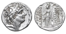 Ancient Coins - SELEUCID KINGDOM. Antiochus VII Eurgetes. AR Tetradrachm. 138-129 BC. VF+
