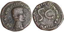Ancient Coins - Augustus. 12 BC - 14 AD. AE As. 6 BC. Moneyer Licinius Nerva \ VF+ Roman coin