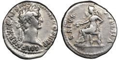 Ancient Coins - Nerva 96-98 AD AR Denarius \ SALVS PVBLICA \ VF\XF - Roman coin