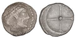 Ancient Coins - Sicily Syracuse Hieron I 478-466 BC Deinomenid Tyranny Litra XF