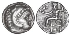 Ancient Coins - Macedon Kolophon Antigonos I 320-301 BC Drachm XF\UNC In the name and types of Alexander III