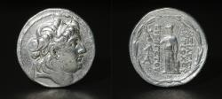 Ancient Coins - SELEUCID Antiochus VII Eurgetes 138-129 BC Silver Tetradrachm. VF\XF