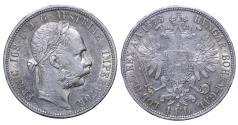 World Coins - Austro-Hungarian Franz Joseph I° 1 Florin 1878 XF