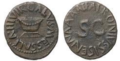 Ancient Coins - Augustus. 27 B.C.-A.D. 14. Æ quadrans Very Rare variety. XF