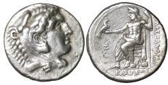 Ancient Coins - Macedon. Amphipolis. Kassander as regent, 317-305 BC Tetradrachm Well centered. XF