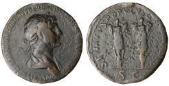 Ancient Coins - TRAJAN 98-117 AD AS Trohpies VF