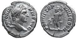 Ancient Coins - Caracalla Denarius. 206 AD \ Mars  \ VF+