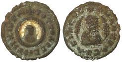 Ancient Coins - AXUM. Ouzebas. Circa 380. Æ 15 Gilding on reverse. Rare. VF+