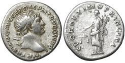Ancient Coins - Trajan. 98-117 AD. Denarius. 103-104 AD Aequitas UNC