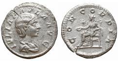 Ancient Coins - Julia Paula Augusta 219-220 Denarius CONCORDIA aXF