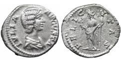 Ancient Coins - Julia Domna Denarius Rome AD 196-211 aUNC bust \ Felicitas