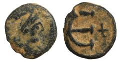 Ancient Coins - Justinian I 527-565 Æ Pentanummium Constantinople VF