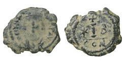 Ancient Coins - MAURICE TIBERIUS (582-602). Decanummium. Constantinople VF