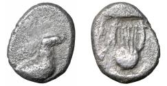 Ancient Coins - THRACO-MACEDONIAN REGION. Uncertain Obol Rare VF+