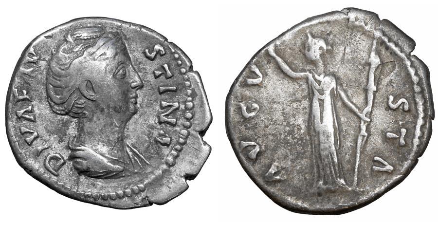 Ancient Coins - Diva Faustina Senior died 140/1 Denarius Ceres aXF
