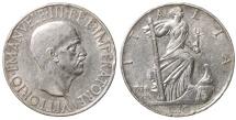 World Coins - ITALY VITTORIO EMANUELE III°. 10 Lire 1936. aXF