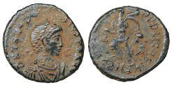 Ancient Coins - Theodosius I 379-395 AD AE half-centenionalis VF+