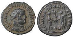 Ancient Coins - Maximianus 285-305 AD AE Radiate Cyzicus Mint XF+ CONCORDIA MILITVM \ Roman Coins