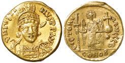Ancient Coins - Justin I. 518-527 AD. Gold Solidus. aUNC