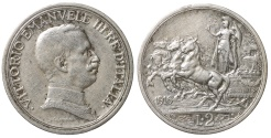 World Coins - VITTORIO EMANUELE III°. 2 Lire 1916. XF+