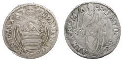 World Coins - Papal States Paulus IV Giulio 1555-1559 AD. Rare VF+