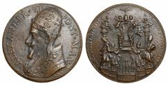 World Coins - Papal States Pope Alexander VII 1655-1667 Bronze Medal 29-06-1662 Rare. UNC