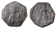 Manuel I Comnenus 1143-1180 AD. AE Tetarteron.  VF. Dark Patina