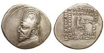 Ancient Coins - Parthian Kingdom. Mithradates III. Ca. 87-79 B.C. AR drachm EF