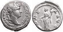 Ancient Coins - Hadrian. AD 117-138. Denarius \ MONETA \ XF \ roman coin