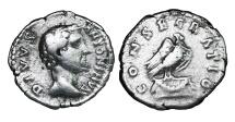 Ancient Coins - ANTONINUS PIUS Struck by Marcus Aurelius 161 AD. DENARIUS  CONSECRATIO