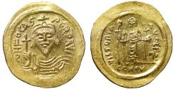 Ancient Coins - Phocas. 602-610. Gold Solidus.  Constantinople UNC