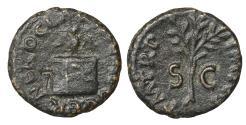 Ancient Coins - Nero 54-68 AD Brass Quadrans 64 AD Rare aXF