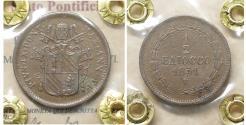World Coins - Papal States Bologna mint Pius IX 1846-1870 1/2 baiocco 1851 XF