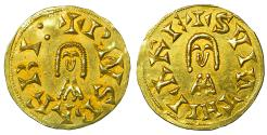 World Coins - Visigoths in Spain Suinthila 621-631 AD Gold Tremissis Uncirculated Barbi Antequera