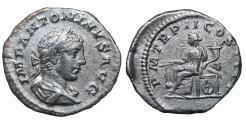 Ancient Coins - Elagabalus Denarius. 219 AD. \ aEF \ roman coin