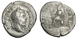 Ancient Coins - Septimius Severus Denarius 201-210 AD VF