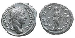 Ancient Coins - Severus Alexander Denarius AD 231 XF ANNONA